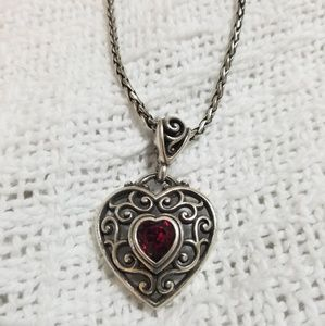 ❤ Brighton- Garnet Heart Necklace ❤